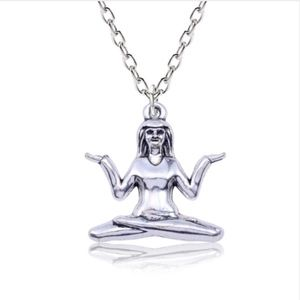 Jewelry - Indian Chief Yogi Love Buddhist Silver Necklace